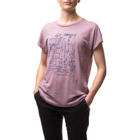 Houdini Activist Message T-shirt Femme, six am purple